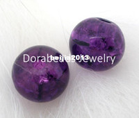 Free Shipping! 200 PCs Crackle Glass Round Beads 6mm Dia. Fi...