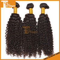 Cheap 5A Virgin Malaysian Curly Hair Extensions 3pcs Lot Afro Kinky Curly Human Hair Weave Remy Hair Weft Dyeable Bleachable DHL Free Shipping