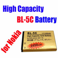 Wholesale 5pcs MOQ High Capacity Gold BL C BL C Replacement Battery for Nokia V mah goodbiz