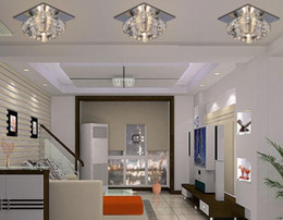 Wholesale Modern LED Crystal Ceiling Light Balcony Ceiling Lamps Living Room Ceiling Light