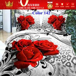Wholesale Fedex Free White black D Home Textiles Luxuriantflowers duvet cover bed sheet pillow romantic rose designs king size