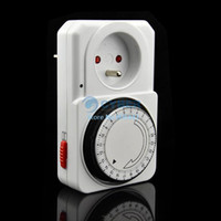 Wholesale 5Pcs Easy To Set EU Plug Hour HR Mains Plug In Timer Switch Time Clock Socket TK0561