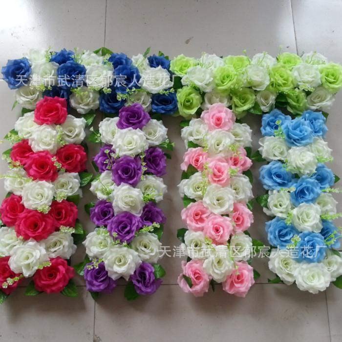 2017 Wedding Flower Arch Flower Corners Court Row Row Row Flower Artificial Roses From Feida98