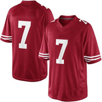 Wholesale 49ers Kaepernick Limited Football Jerseys Top Embroidery Logos Athletic Apparel Red Outdoor Uniform for Sale New Collection