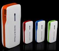 Wholesale New Arrival New in1 Portable G G Wireless WiFi Mbps AP Hotspot Router mAh Powerbank amp
