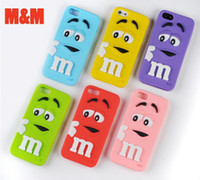 3D M& M Chocolate candy Rainbow bean smile Silicone Case ...