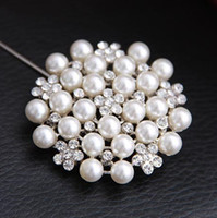 Wholesale New fashion Brooches Multi beads Pins Bridesmaid Flower Girl Wedding Pearl Rhinestone fashion flower brooches with pearl and diamonds