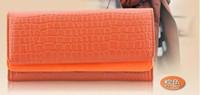 Wholesale Mfm023 Fashion Ladies Candy Color Purse Wallet Clutch HandBag Wrist Tote Card Bag PU Leather