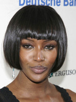 straight African-American Wigs Christmas Sexy Short Straight Capless Synthetic Wigs For Black Women