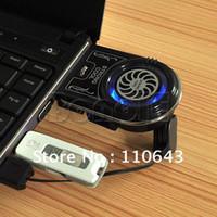 Wholesale Mini Vacuum Case USB Laptop Cooler Notebook Cooling Fan idea FYD with Blue LED Light