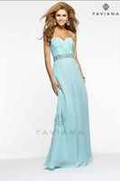 Cheap LM Gorgeous Baby Blue Chiffon Sequins Dresses Sweetheart Waist High Floor Length Sleeveless Red Carpet Sexy Charming party Evening Gowns