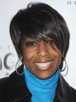 straight African-American Wigs Christmas Cheap Short Straight Capless Synthetic Wigs For Black Women