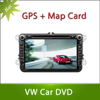 Wholesale 2 din car dvd player for VW GOLF BLUE MOTION with GPS touch screen steering wheel control ipod stereo radio usb BT