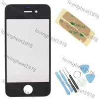 Wholesale By DHL EMS Front Outer Glass Lens Touch Screen Cover for iphone iPhone S repair parts with tools adhesive black white