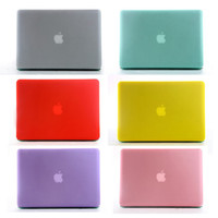 Wholesale Folio Flip Cover For Macbook Air Frosted Transparent Laptop Protector For Macbook Air Apple Sleeve Hard Case