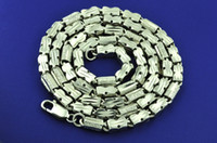 Wholesale 68 GRAM K NECKLACE WHITE GOLD CHAIN bullion invest UNIQUE STYLE