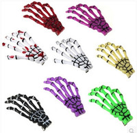 Wholesale Terror Japan Harajuku Skeleton Claws Skull Hand Hair Clip Hairpin Zombie Punk Horror Bobby Pin Barrettes hair clip colors with Mix Order