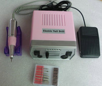 Wholesale By DHL Electric Art Nail Drill File With Nail Drill Bits Foot Pedal V V