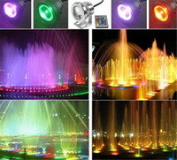Wholesale Best Waterproof Led Underwater Light Color Changing RGB LED Pool Pond Fountain Lamp W V RGB Floodlight With Key IR Remote Sets