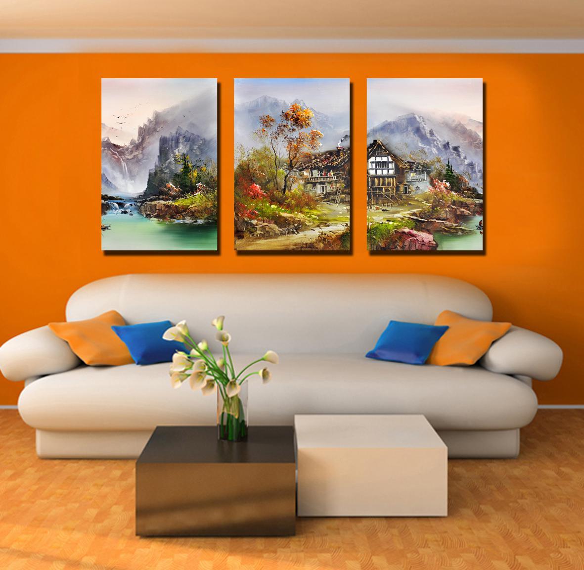 Картины для гостиной фото