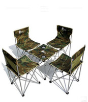 Wholesale Wild wild Camouflage outdoor folding tables and chairs portable piece set tables and chairs combination set large tote