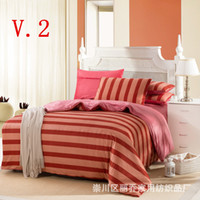 Wholesale 4pcs bed set bedding sets d cotton red the bed linen Minnie mouse queen king size cartoon kids bedclothes