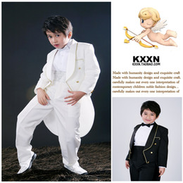 Wholesale 2014 new handsome men and boys dress flower girl dress children tuxedo boys dress performing service H53