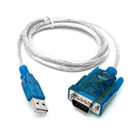 Wholesale S5Q USB To RS232 Serial DB9 Pin Male Adapter Extension cable For PC Laptop AAAALY