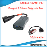 Wholesale 2014 Hot Citroen Peugeot Diagnostic Tool Lexia PP2000 with Pin Cable lexia3 DHL