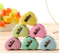 Manual pencil sharpener - Candy Colors Heart Shape Earser Pencil Sharpeners School Supplies WJ0108