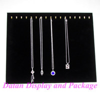 Jewelry Stand wooden board - Big Size High Quality Black Velvet Necklace Display Stand Rack Holder Board For