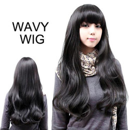 Wholesale S5Q New Style Womens Girls Sexy Long Fashion Full Wavy Hair Wig Colors Available AAAAYD