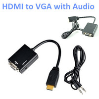 Wholesale Supernova Sale Active HDMI to VGA Audio Converter with Built in Chipset up to p Supported HDMI to VGA Cable Adapter White and Black