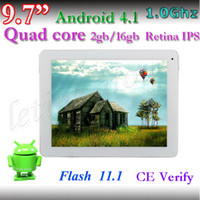 Wholesale Cheap Inch quard core A31Tablet PC g g Retina IPS Capacitive MP auto focus Android dual camera wifi tablet pc