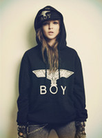 Wholesale 2014 boy london Hoodies London Boy Eagle Lovers Sweatshirt Long Sleeve Fleece Lined Winter Hooded Sports Hoody