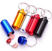 Wholesale High quality Micro Pill box Cache Container Geocache Geocaching Key rings keychain holder vial BS10