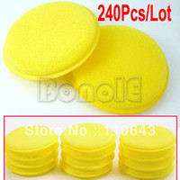 Wholesale 240pcs Waxing Polish Wax Pads Sponges Applicator For Clean Car Vehicle Glass