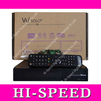 Wholesale 2014 vu solo Vu solo2 twin tuner decoder vu solo2 Linux reciever MHz CPU dvb s2 tuner STB digital satellite tv recever