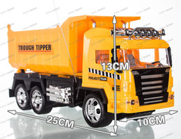 Wholesale LLFA4321 big size RC car toys for children Remote control tipper truck best gift for kids