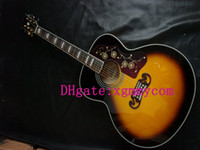 Wholesale Custom Giutars Sunburst Acoustic Electric Guitar fishman pickup Acoustic Guitar