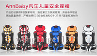 Wholesale 2014 Luxury Baby Car Seat Booster Kg to Kg Point Harness Safety Car Seat Red Blue Gray Orange Yellow Plaid Red Plaid