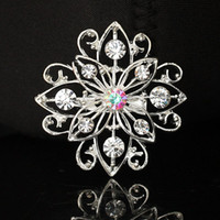 Wholesale Bridal Bouquet Flower Brooch Pins Rhinestone Crystal Pearl Brooch Wedding Decoration Many Different Modles