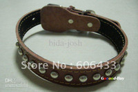 Wholesale Pet Dog Leather Studs Spiked Tough Collar S size
