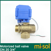 Valve Balls - 3 way motorized ball valve DN20 reduce port electric ball valve motorized valve