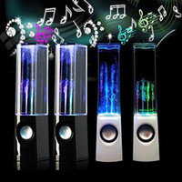 Wholesale Dancing Water Speaker Active Portable Mini USB LED Light Speaker For iphone ipad PC MP3 MP4 PSP Soundbox Boombox Box