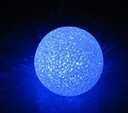 Diameter of 8 cm Colorful Crystal Ball Night Light EVA uPVC Lined Material LED Light Emitting Toys Wedding Decoration