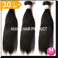 Wholesale 100 Virgin Queen Peruvian Indian Brazilian Straight Hair Remy Hair Weaves bundle cheap peruvian hair Weaving A