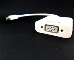 Wholesale Hot Thunderbolt Mini DisplayPort DP to VGA Cable Adapter Cord For Macbook Air Pro with tracking number a