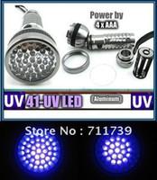 Cheap High quality 41 LED UV Flashlight Ultra Violet Flashlight UV Torch 41 LED Anti-fake Flashlight Hiking Torch