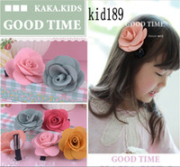 Barrettes other Floral Charming Colorful Layers Rose Style 2014 Children's Hair Accessaries Barrettes Flower Girl Hair Clips kid189
